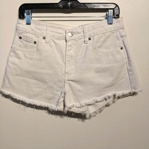 Forever 21 White Denim Cutoffs